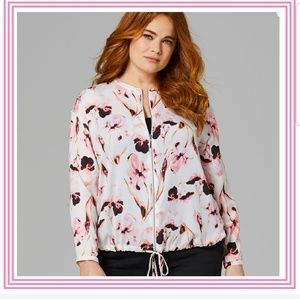 Capsule By Simply Be Zip Front Bomber Blouse